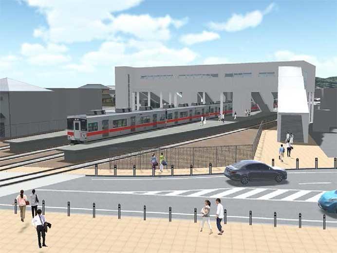 大塩駅の工事完成イメージ図