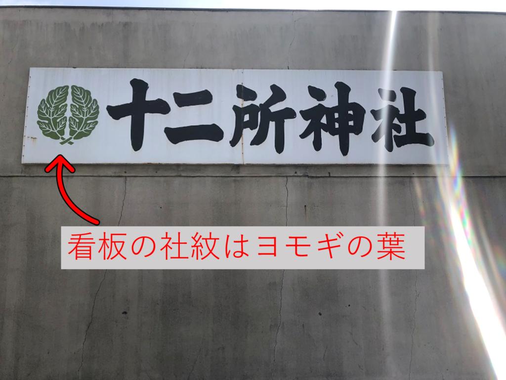 十二所神社の看板