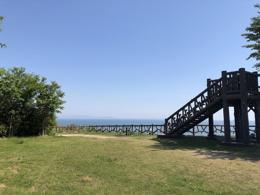 小赤壁公園から見る海の景色