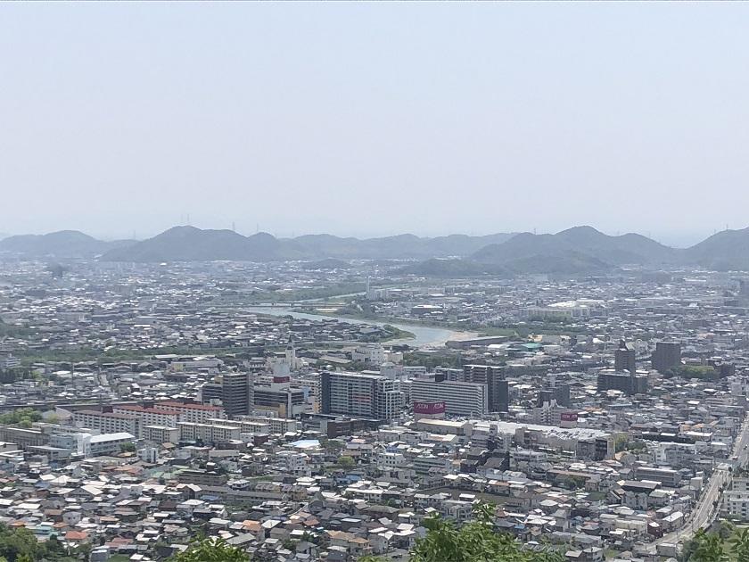 広峰山から見た姫路市街地の景色