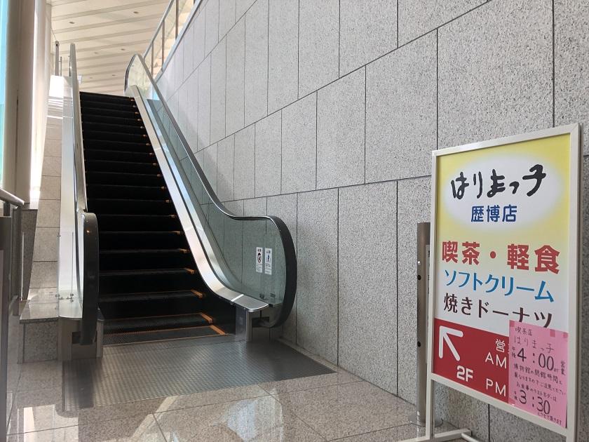 兵庫県立歴史博物館のエレベーター