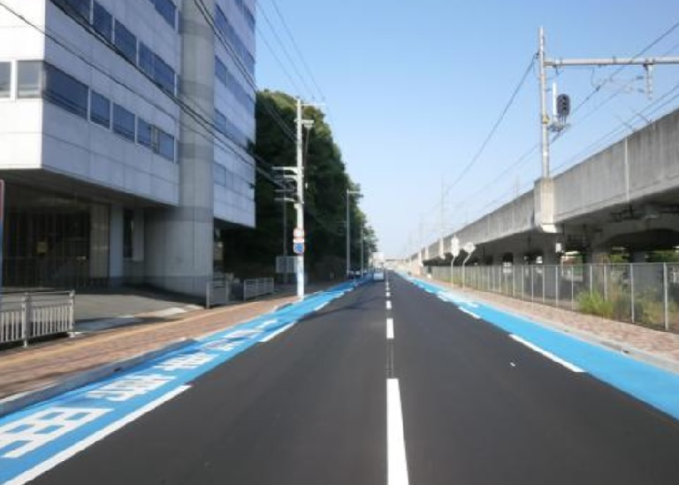 整備された姫路市の自転車レーン
