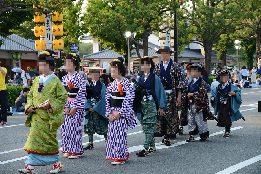 姫路城の大名行列