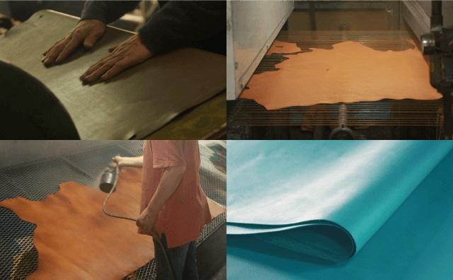 皮革製造の工程