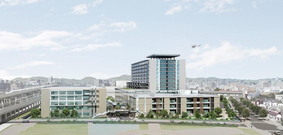 県立はりま姫路総合医療センターの完成イラスト