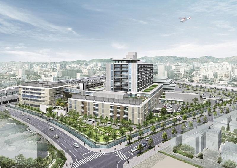 県立はりま姫路総合医療センターの完成イメージ図