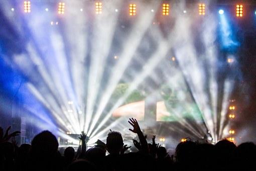 コンサートの照明