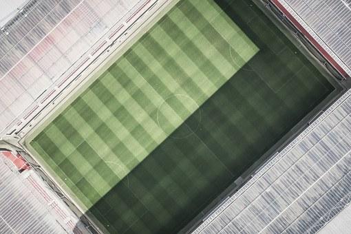 上空からみたスタジアム