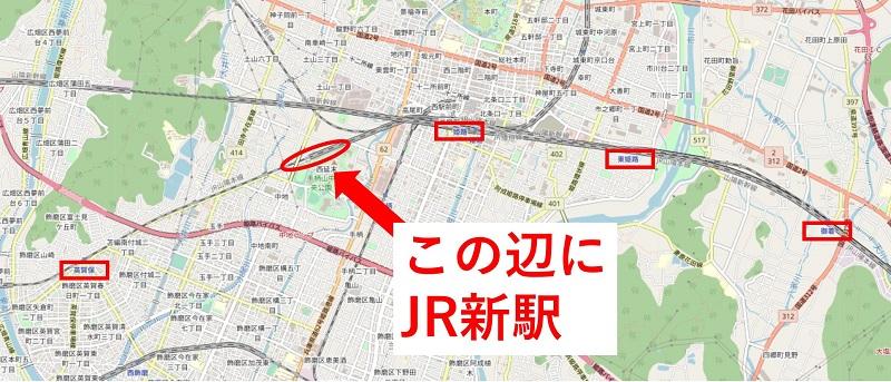 新駅の予定位置