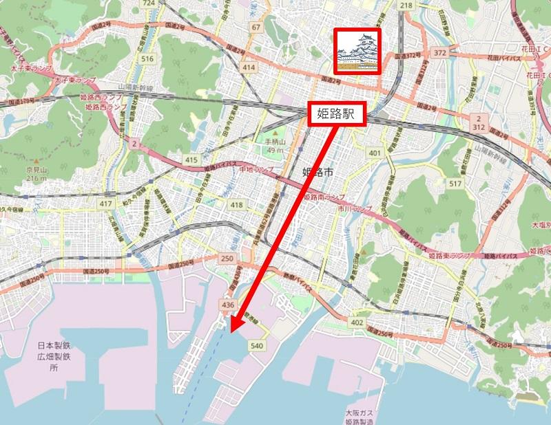 姫路港の地図