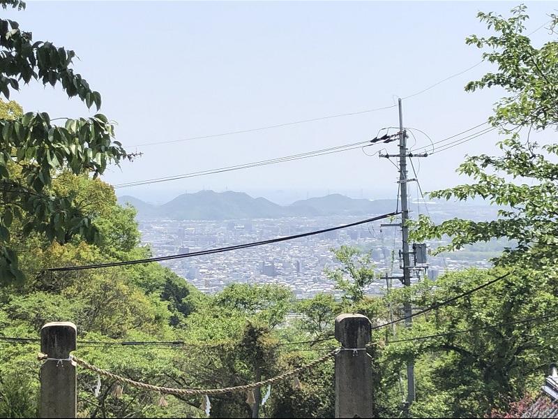廣峯神社から望む市街地