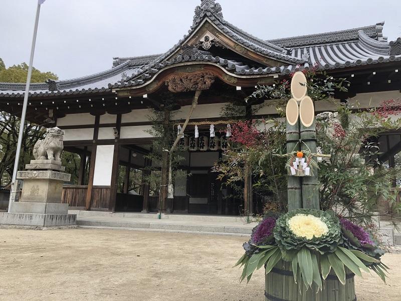 松原神社の門松