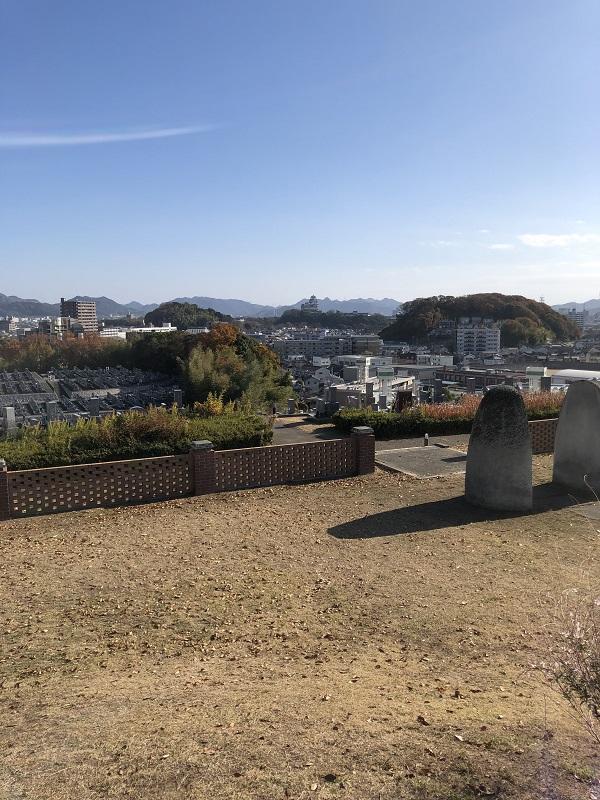 名古山展望台広場の景色