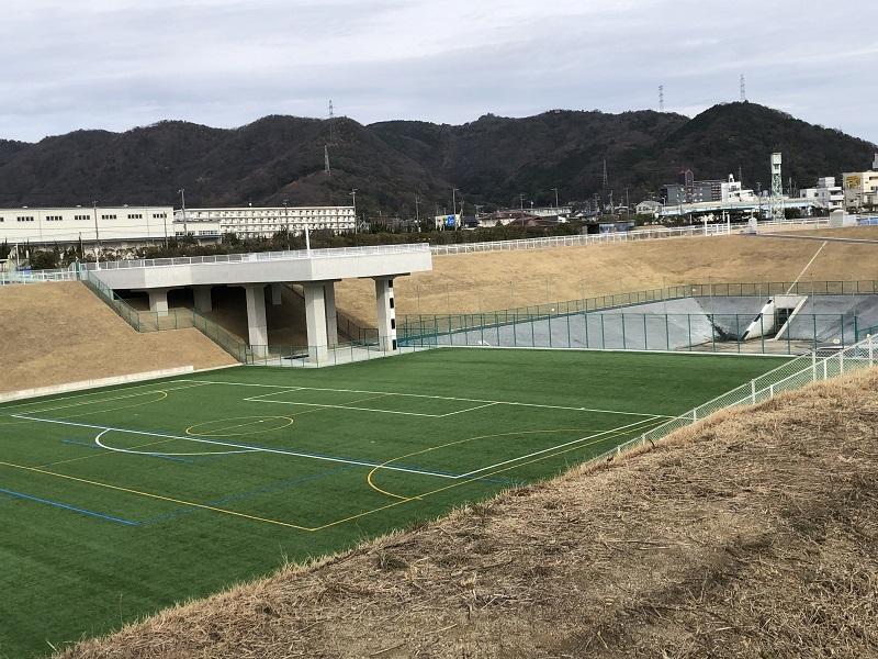 姫路競馬場のサッカー場