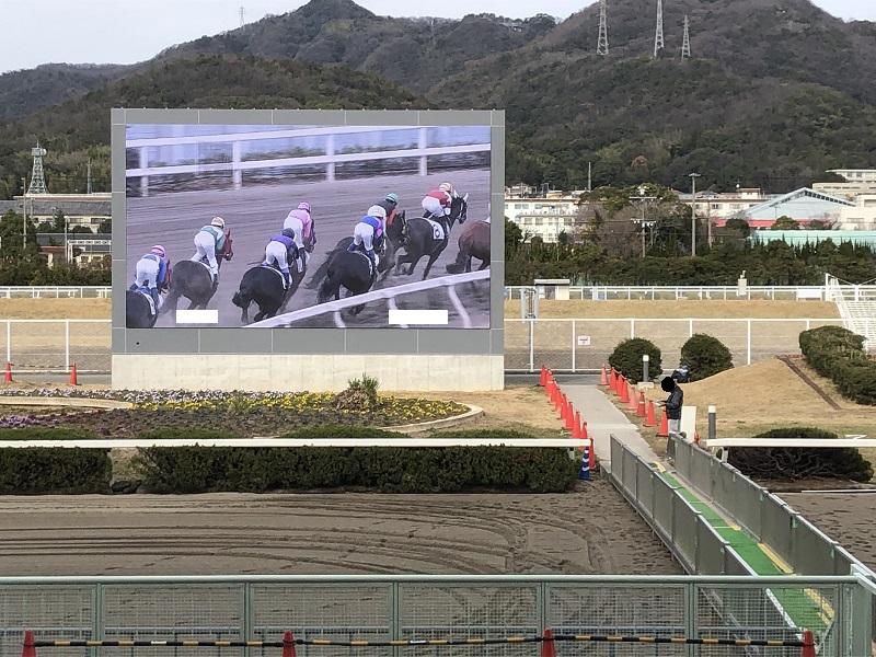 姫路競馬場の液晶ビジョン