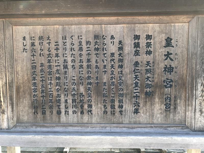 伊勢神宮内宮の案内板