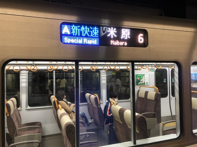 JR山陽本線新快速米原行の車両