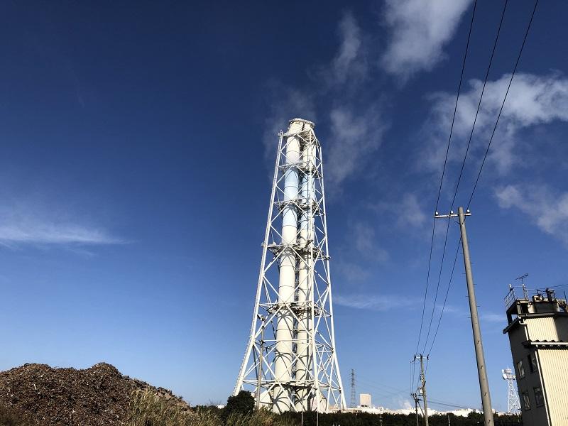 関西電力第一発電所の煙突