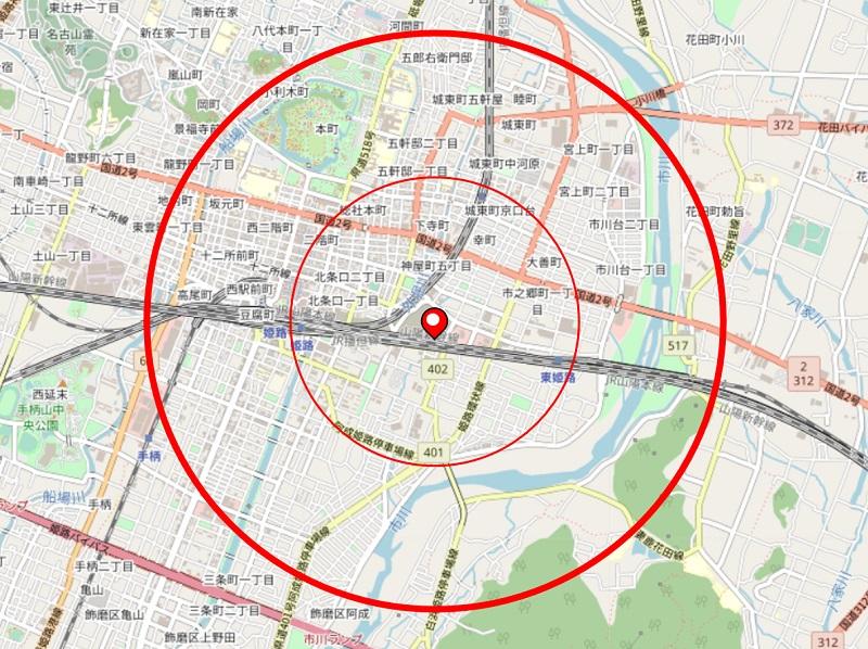 県立はりま姫路総合医療センターから半径2㎞の地図