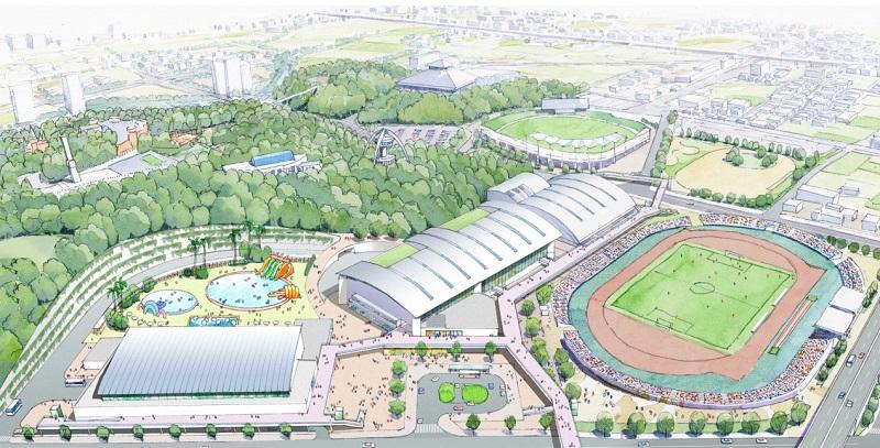 手柄山中央公園再整備計画のイメージ図