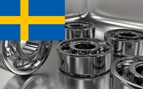 スウェーデン国旗とベアリング