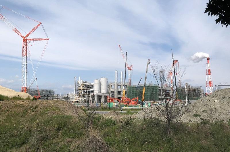 ダイセル網干工場の工事現場