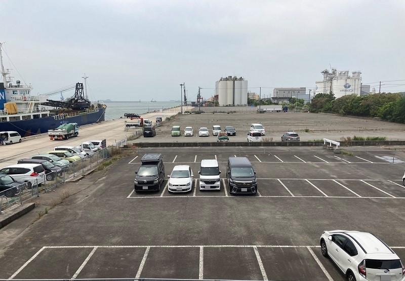 姫路港の駐車場