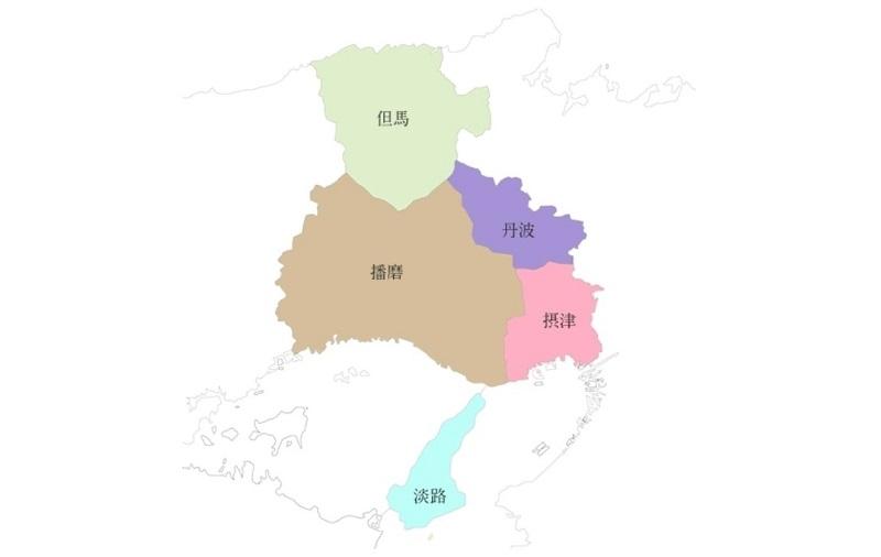 ひょうご五国の地図