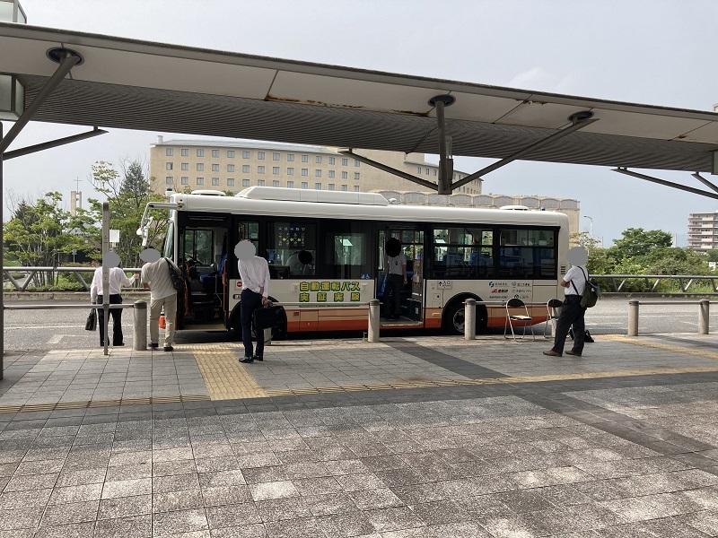 三田ウッディタウンのバスターミナル