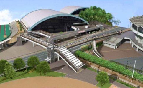 手柄山中央公園の連絡通路イメージ図