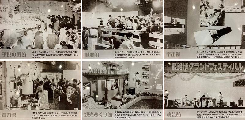 姫路大博覧会のパビリオン