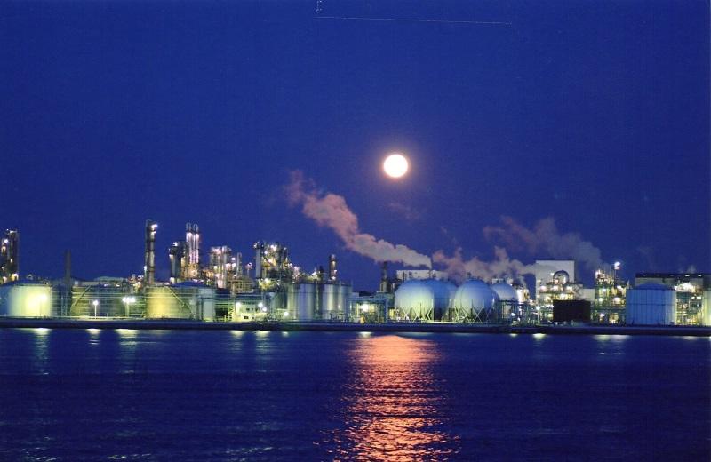 網干沖の工場夜景