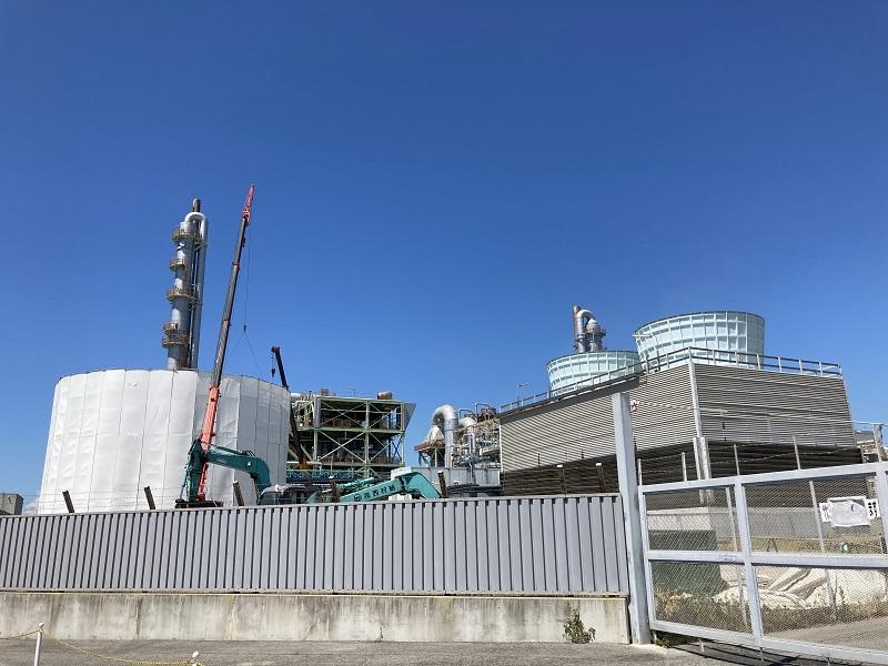 日本触媒の建設中プラント