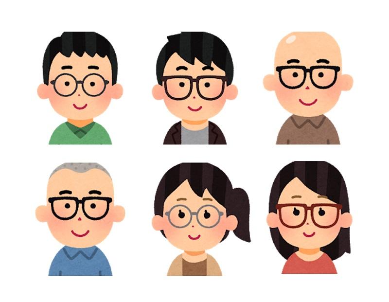 メガネをかけた人