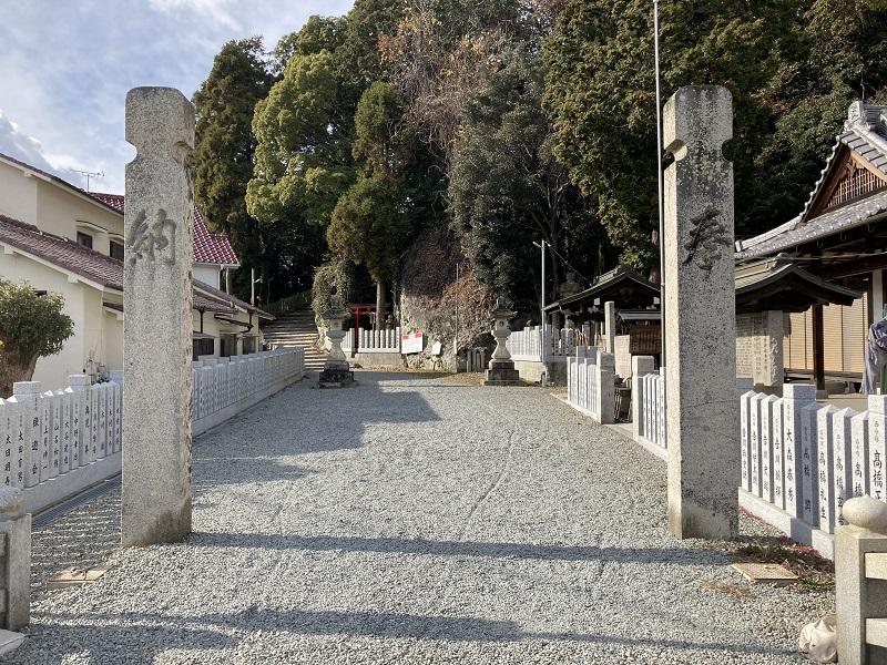 高岳神社の社務所付近