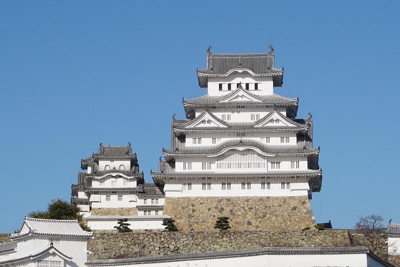 姫路城を南から見た正面