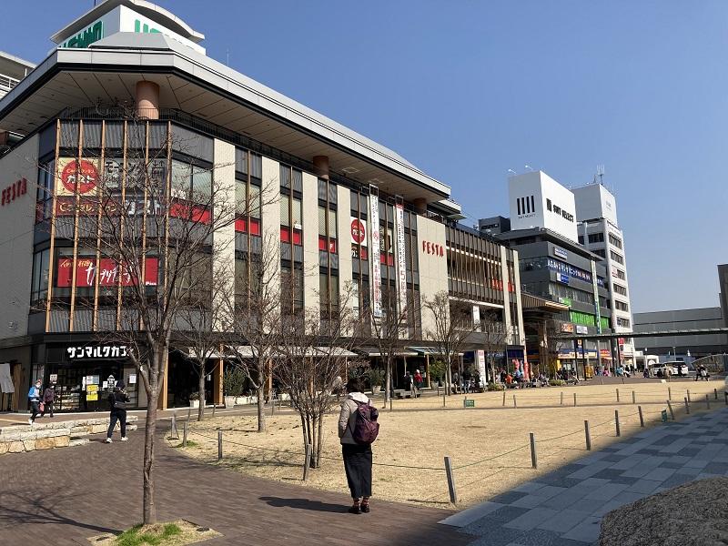 姫路駅前の公園