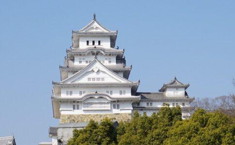 西からみた姫路城