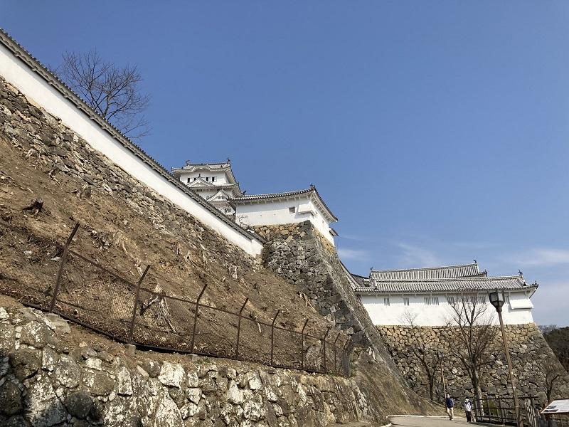 姫路城の天守と黒田官兵衛や池田輝政の時代の石垣