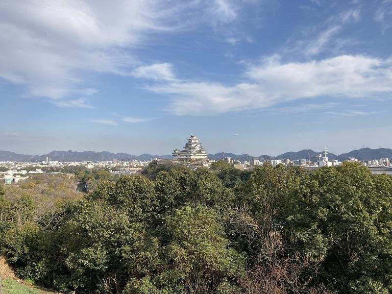 男山山頂から見た姫路城