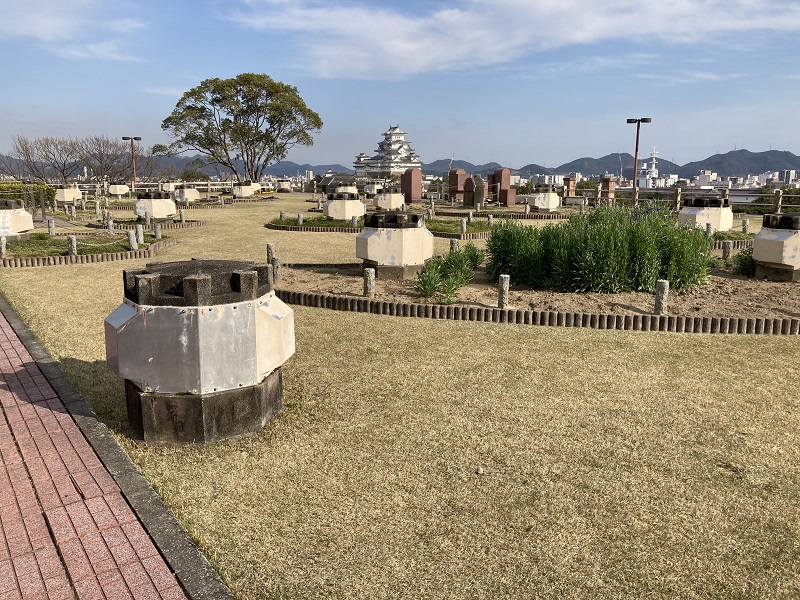 男山配水池公園から見た姫路城
