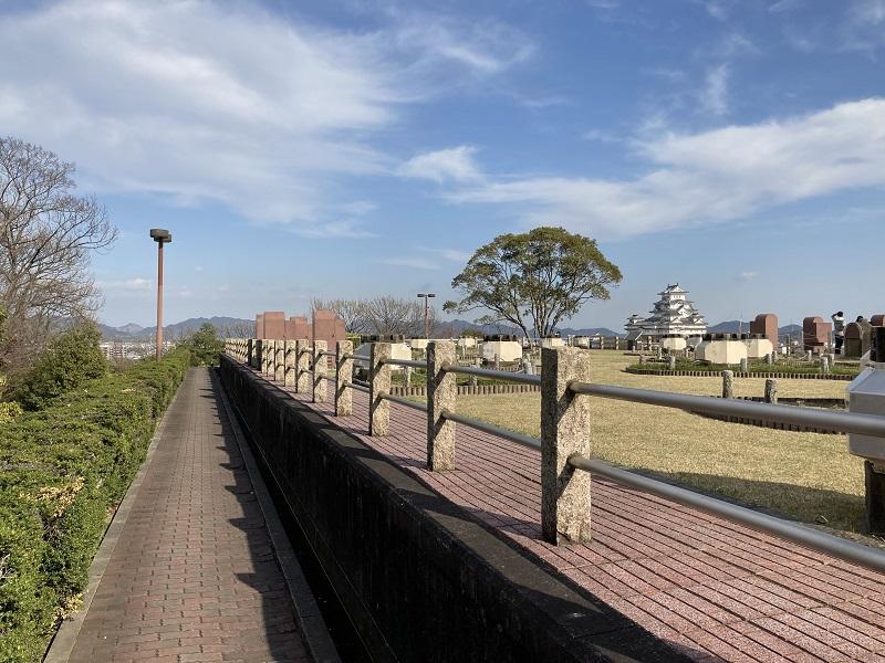 男山配水池公園からみた姫路城