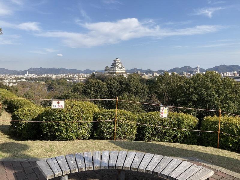 男山から見た姫路城
