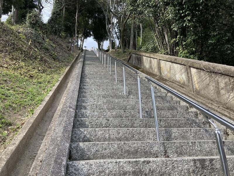 男山配水池公園の階段