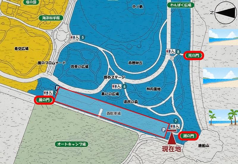 赤穂海浜公園の地図