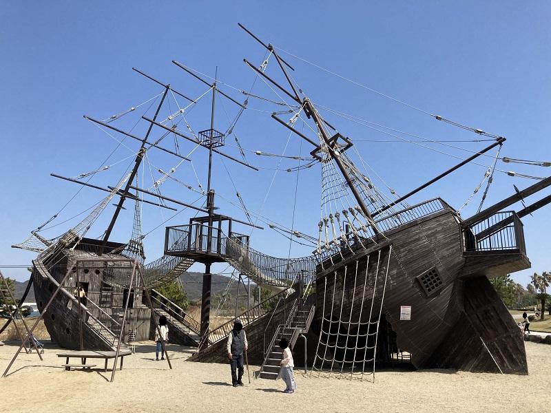 海賊船 難破船 船のアスレチック