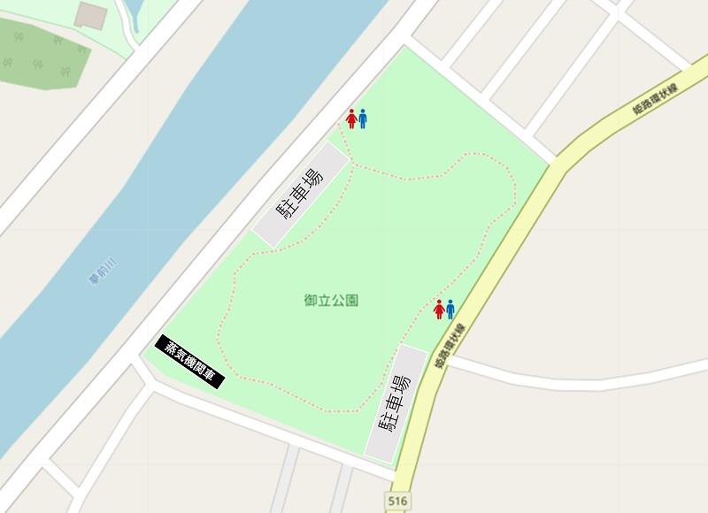 御立公園のマップ
