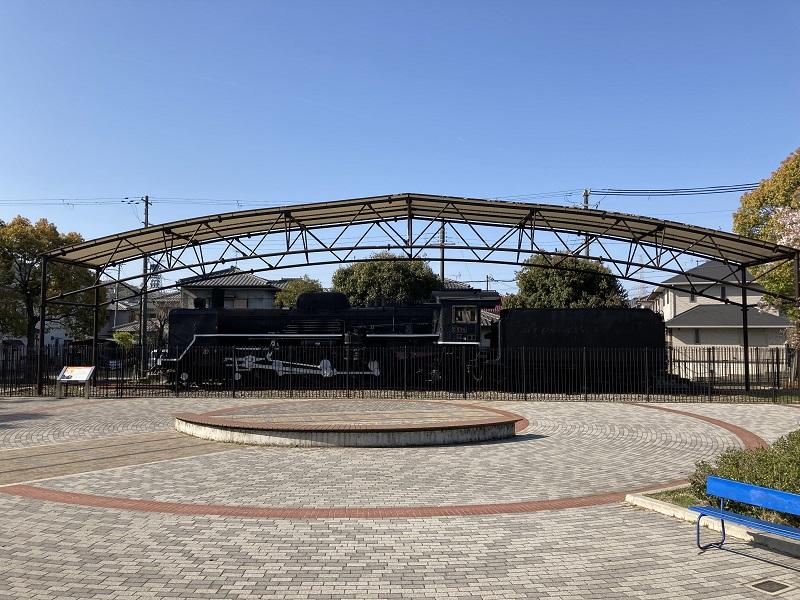 御立公園のSL蒸気機関車