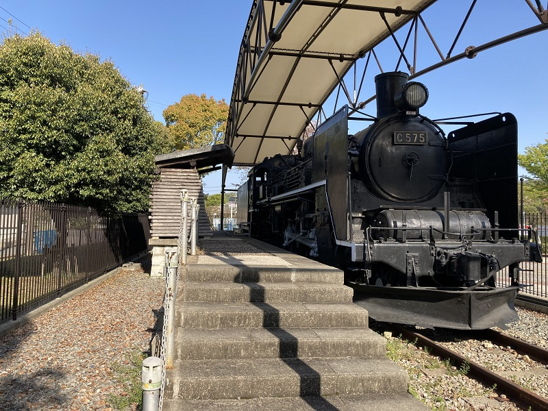 SL蒸気機関車の展示