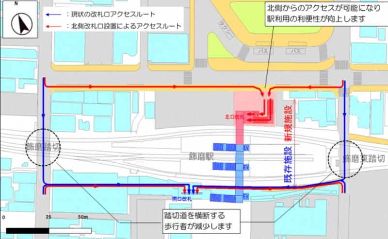 北口の計画地図
